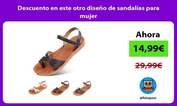 Descuento en este otro diseño de sandalias para mujer