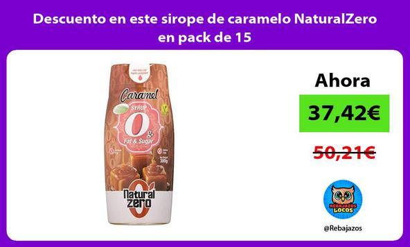 Descuento en este sirope de caramelo NaturalZero en pack de 15