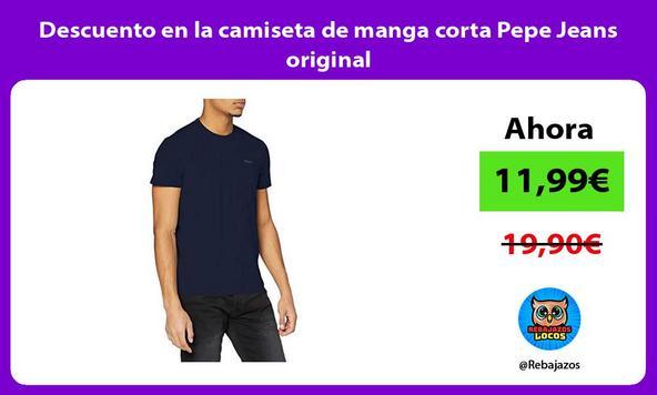 Descuento en la camiseta de manga corta Pepe Jeans original