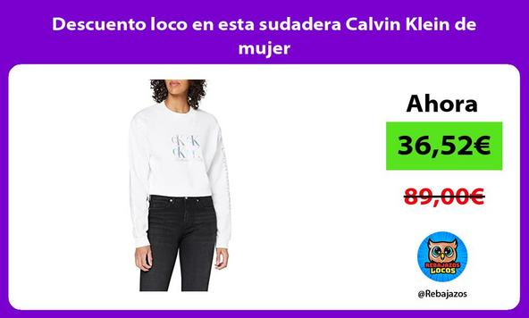 Descuento loco en esta sudadera Calvin Klein de mujer