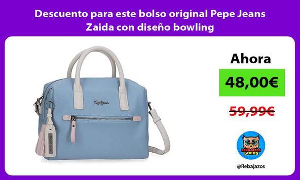 Descuento para este bolso original Pepe Jeans Zaida con diseño bowling