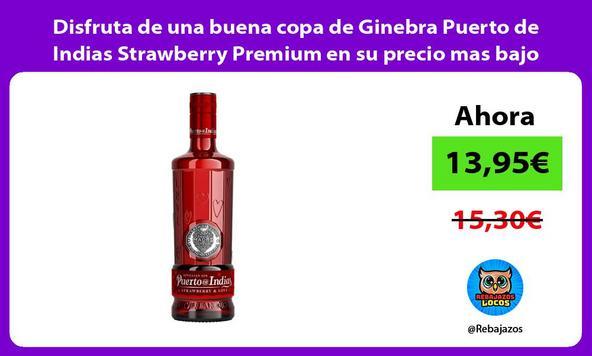 Disfruta de una buena copa de Ginebra Puerto de Indias Strawberry Premium en su precio mas bajo