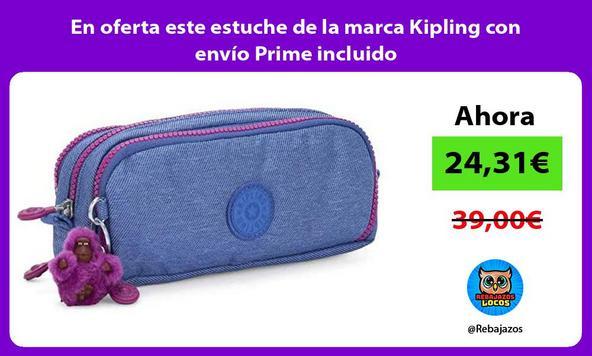 En oferta este estuche de la marca Kipling con envío Prime incluido