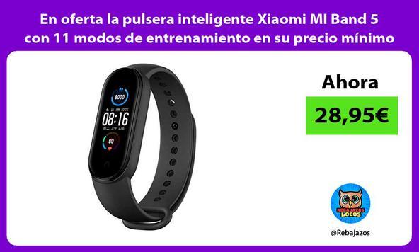 En oferta la pulsera inteligente Xiaomi MI Band 5 con 11 modos de entrenamiento en su precio mínimo