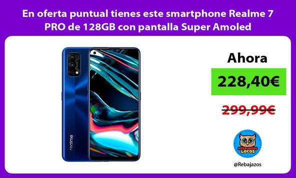 En oferta puntual tienes este smartphone Realme 7 PRO de 128GB con pantalla Super Amoled
