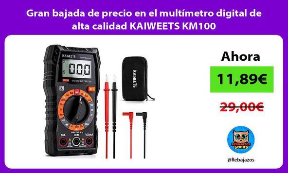 Gran bajada de precio en el multímetro digital de alta calidad KAIWEETS KM100