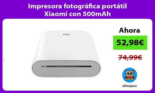 Impresora fotográfica portátil Xiaomi con 500mAh