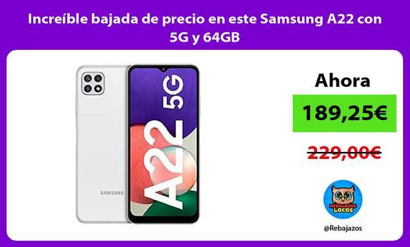 Increíble bajada de precio en este Samsung A22 con 5G y 64GB