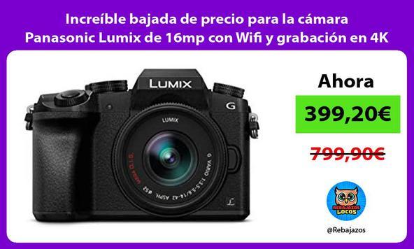 Increíble bajada de precio para la cámara Panasonic Lumix de 16mp con Wifi y grabación en 4K