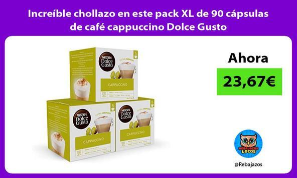 Increíble chollazo en este pack XL de 90 cápsulas de café cappuccino Dolce Gusto