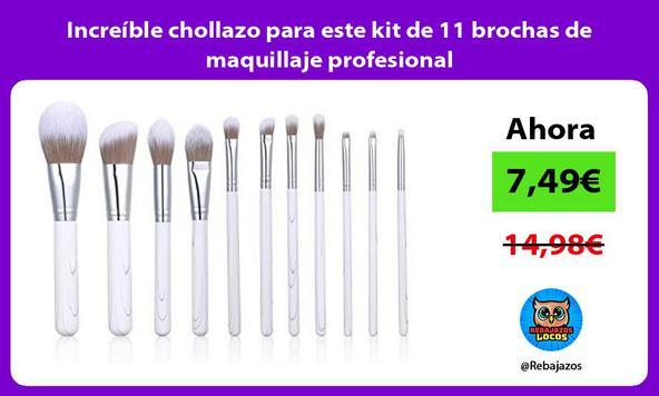 Increíble chollazo para este kit de 11 brochas de maquillaje profesional