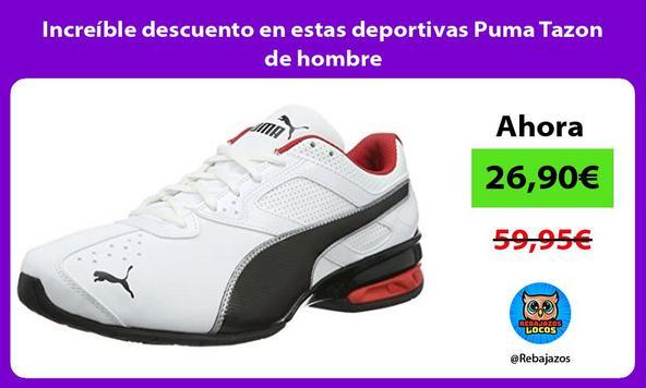 Increíble descuento en estas deportivas Puma Tazon de hombre