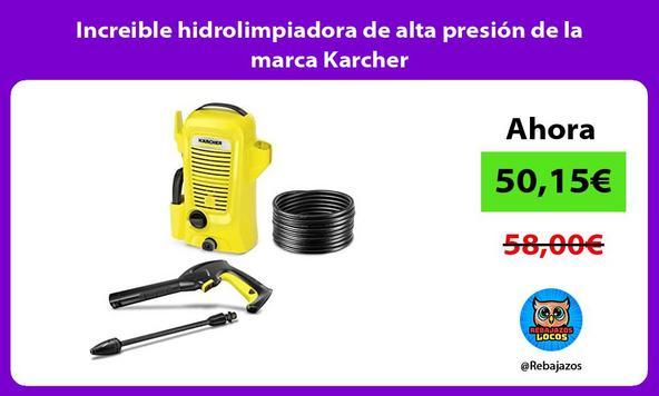 Increible hidrolimpiadora de alta presión de la marca Karcher