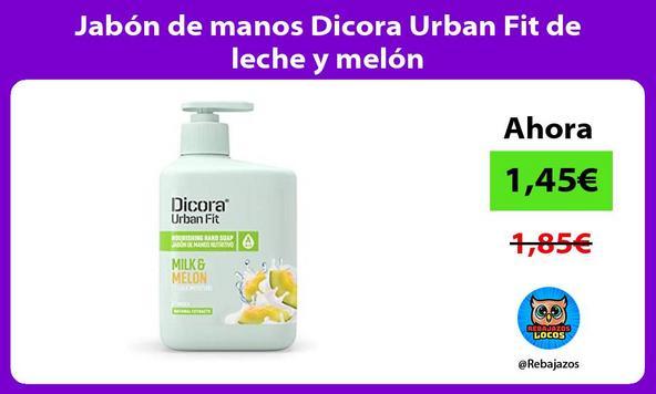 Jabón de manos Dicora Urban Fit de leche y melón