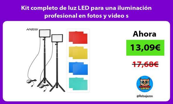 Kit completo de luz LED para una iluminación profesional en fotos y video s