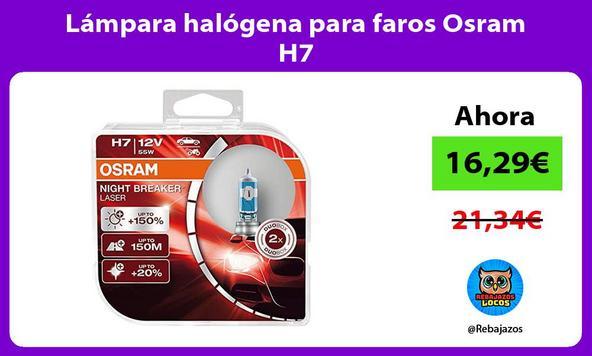 Lámpara halógena para faros Osram H7