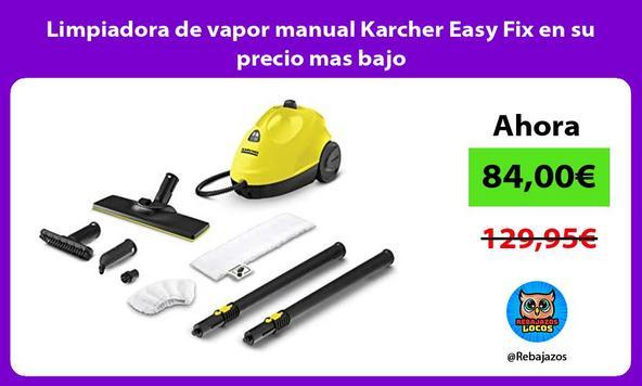 Limpiadora de vapor manual Karcher Easy Fix en su precio mas bajo