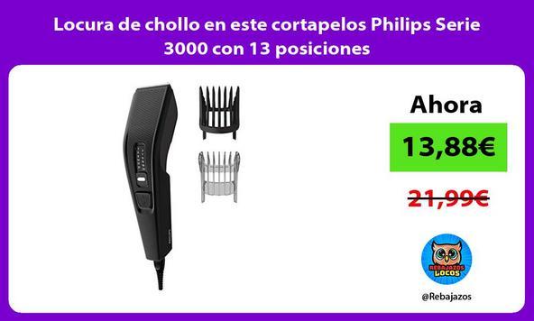 Locura de chollo en este cortapelos Philips Serie 3000 con 13 posiciones
