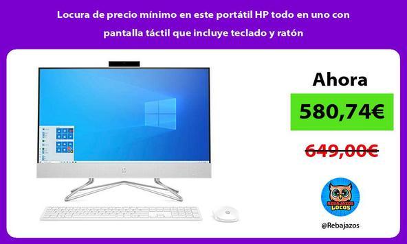 Locura de precio mínimo en este portátil HP todo en uno con pantalla táctil que incluye teclado y ratón