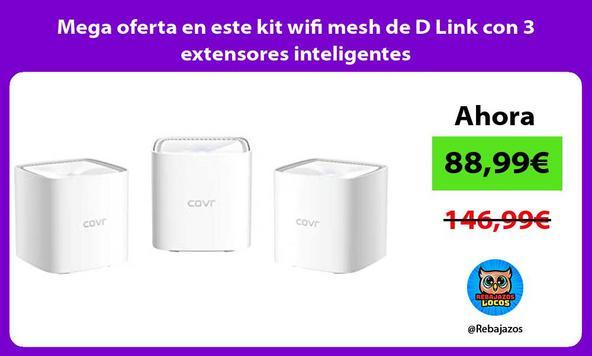 Mega oferta en este kit wifi mesh de D Link con 3 extensores inteligentes