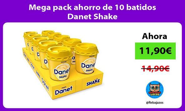 Mega pack ahorro de 10 batidos Danet Shake