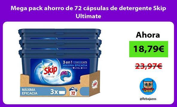 Mega pack ahorro de 72 cápsulas de detergente Skip Ultimate