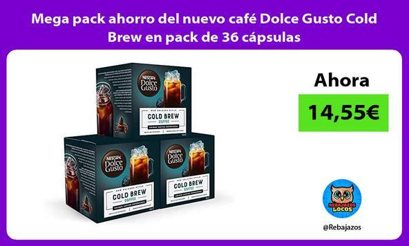 Mega pack ahorro del nuevo café Dolce Gusto Cold Brew en pack de 36 cápsulas