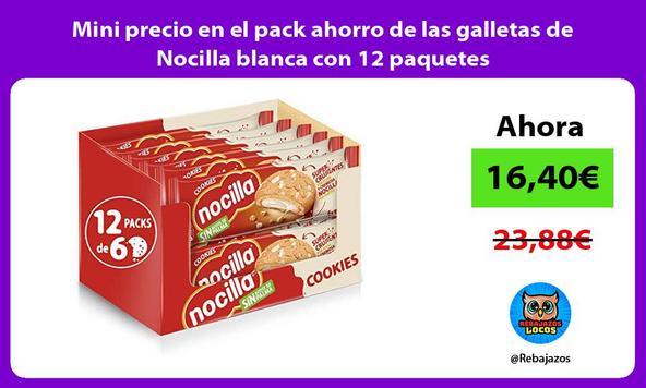 Mini precio en el pack ahorro de las galletas de Nocilla blanca con 12 paquetes