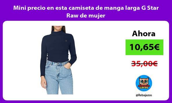 Mini precio en esta camiseta de manga larga G Star Raw de mujer