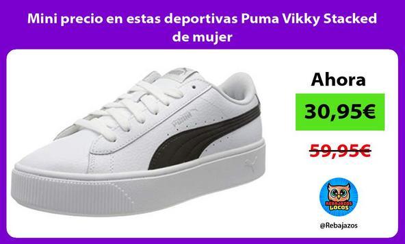 Mini precio en estas deportivas Puma Vikky Stacked de mujer