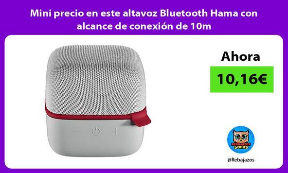 Mini precio en este altavoz Bluetooth Hama con alcance de conexión de 10m