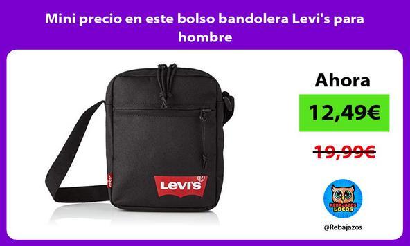 Mini precio en este bolso bandolera Levi's para hombre