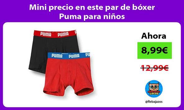 Mini precio en este par de bóxer Puma para niños