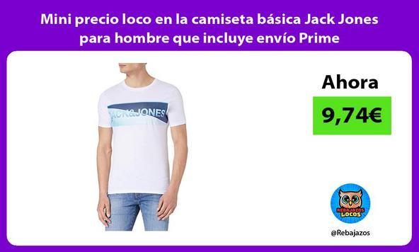 Mini precio loco en la camiseta básica Jack Jones para hombre que incluye envío Prime