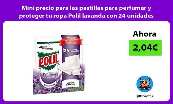 Mini precio para las pastillas para perfumar y proteger tu ropa Polil lavanda con 24 unidades