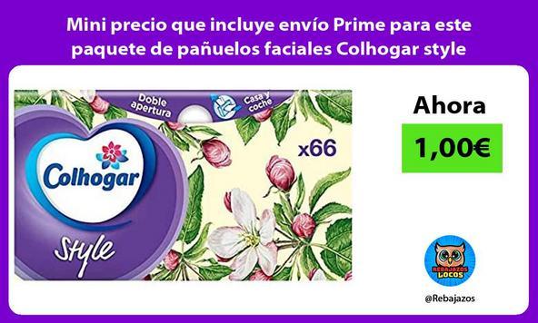 Mini precio que incluye envío Prime para este paquete de pañuelos faciales Colhogar style