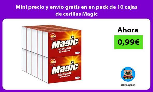 Mini precio y envío gratis en en pack de 10 cajas de cerillas Magic