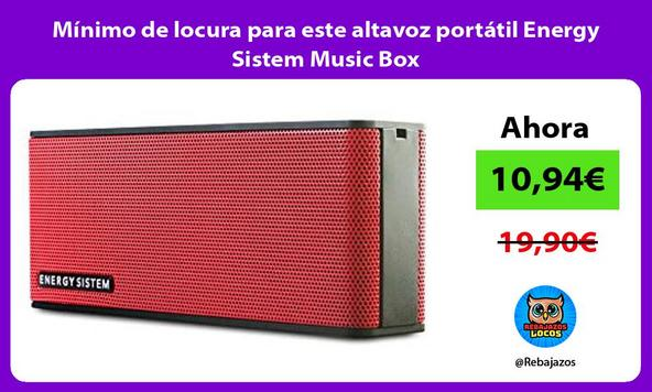 Mínimo de locura para este altavoz portátil Energy Sistem Music Box