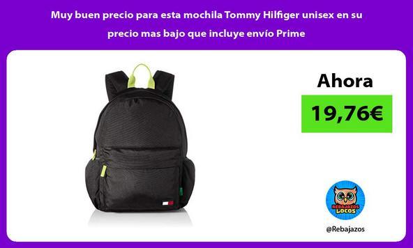 Muy buen precio para esta mochila Tommy Hilfiger unisex en su precio mas bajo que incluye envío Prime
