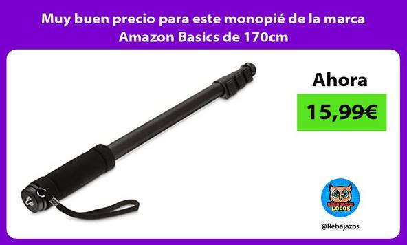 Muy buen precio para este monopié de la marca Amazon Basics de 170cm