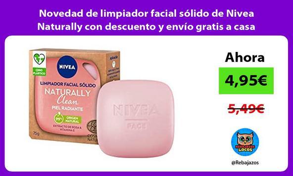 Novedad de limpiador facial sólido de Nivea Naturally con descuento y envío gratis a casa