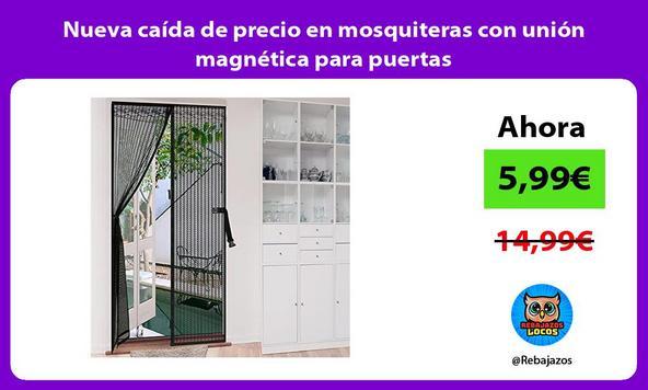 Nueva caída de precio en mosquiteras con unión magnética para puertas