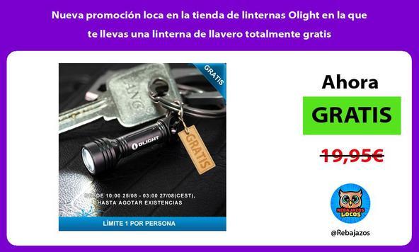 Nueva promoción loca en la tienda de linternas Olight en la que te llevas una linterna de llavero totalmente gratis