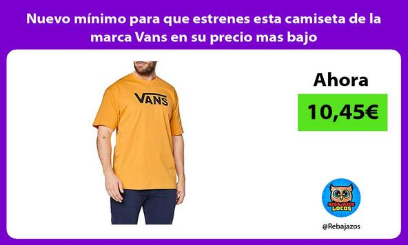 Nuevo mínimo para que estrenes esta camiseta de la marca Vans en su precio mas bajo