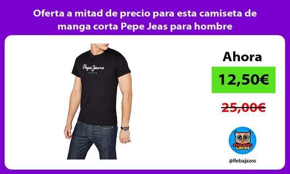 Oferta a mitad de precio para esta camiseta de manga corta Pepe Jeas para hombre