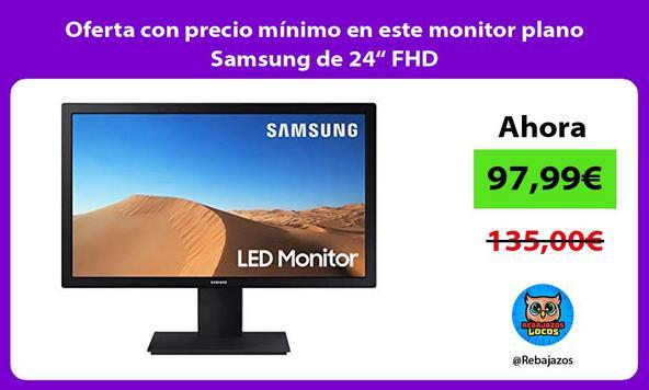 """Oferta con precio mínimo en este monitor plano Samsung de 24"""" FHD"""