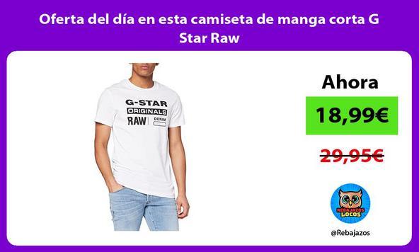 Oferta del día en esta camiseta de manga corta G Star Raw