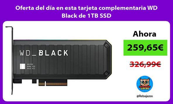 Oferta del día en esta tarjeta complementaria WD Black de 1TB SSD