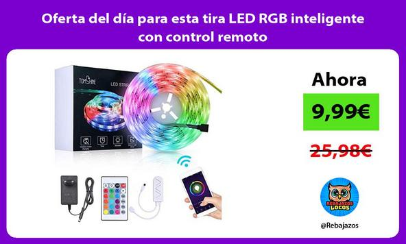 Oferta del día para esta tira LED RGB inteligente con control remoto