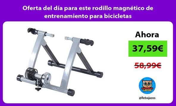 Oferta del día para este rodillo magnético de entrenamiento para bicicletas